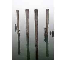 Old Piling Reflections 3 Photographic Print