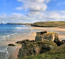 Perran Beach by cwwphotography