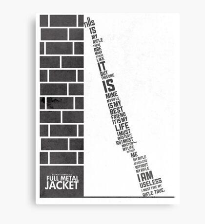Full metal Jacket poster Canvas Print