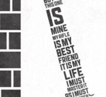 Full metal Jacket poster Sticker