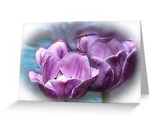 Violet Tulip Splash Greeting Card