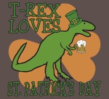 T-REX LOVES ST. PATRICK'S DAY Baby Tee