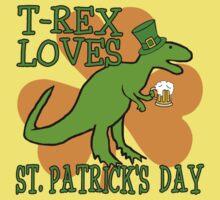 T-REX LOVES ST. PATRICK'S DAY Kids Tee