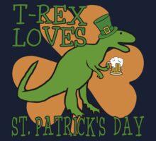 T-REX LOVES ST. PATRICK'S DAY Kids Clothes