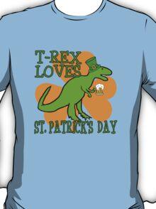 T-REX LOVES ST. PATRICK'S DAY T-Shirt