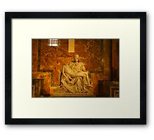 The Pieta` By Michelangelo Framed Print
