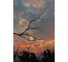Cool burn sunset - hot burn victims Photographic Print
