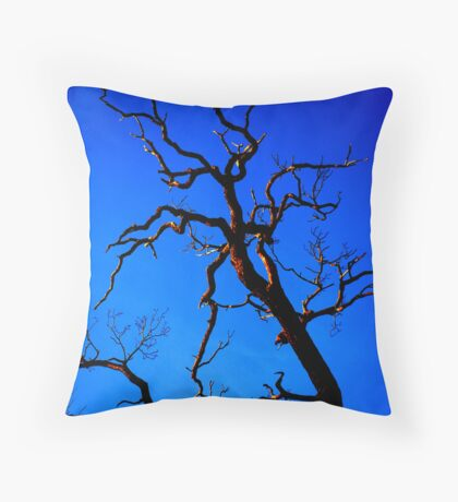 Fiery Branches Throw Pillow
