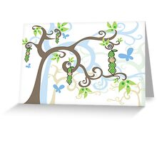 Magic Trees and Baby Boys in a Pod Greeting Card