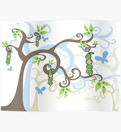 Magic Trees and Baby Boy Pea in a Pod Poster