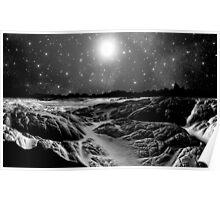 Lava Flows/B&W Poster