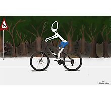 Corky's riding a bike Photographic Print