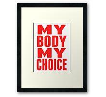 Your Choice Sticker Framed Print