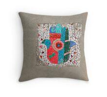 chamsa mosaic Throw Pillow