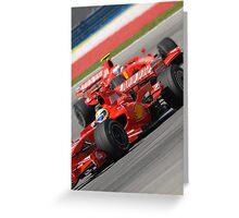 Scuderia Ferrari Marlboro Felipe Massa Brazil F1 Sepang Malaysia Greeting Card
