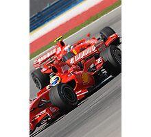 Scuderia Ferrari Marlboro Felipe Massa Brazil F1 Sepang Malaysia Photographic Print