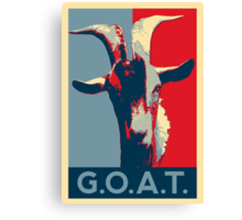 G.O.A.T. - GOAT - Greatest of all time Canvas Print