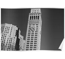 Black & White Clock Tower Poster