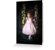 Flower Swing Greeting Card