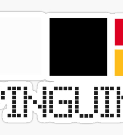 a pinguin contains Sticker
