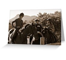 Young Guns Greeting Card