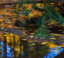 Impressions of a Little Forest Creek in the Fall Sticker