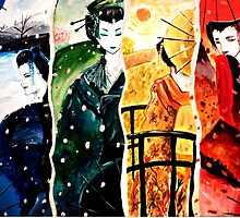 Geishas of the Season by debzandbex