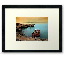rusty boat.. Framed Print