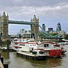Tower Bridge and Dixie Queen by Sergey Galagan