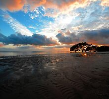 Sunrise At Nudgee Beach. Brisbane, Queensland, Australia. by Ralph de Zilva
