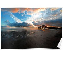 Sunrise At Nudgee Beach. Brisbane, Queensland, Australia. Poster