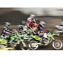 Cycle Blur Photographic Print