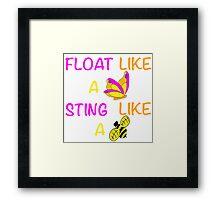 Float Like A Butterfly Framed Print