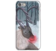 Realistic Rudolph Reindeer Acrylic Christmas Painting iPhone Case/Skin