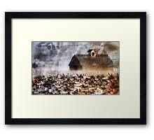 Prairie Snow Framed Print