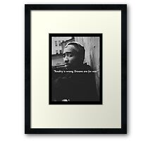2PAC Dreams Are for Real Quote SALE Framed Print