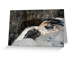 the top of high force Greeting Card