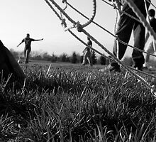 Soccer B&W by Heather Massey