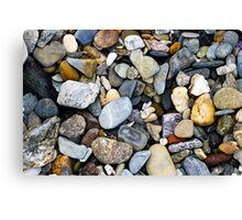 Beach coloured stones Canvas Print