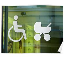 JUST WHEELCHAIRS  AND PRAMS ACCES Poster