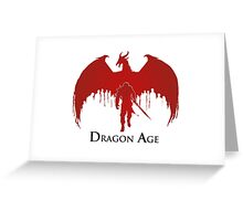 Dragon Age 2 Dragon and Hawke Greeting Card