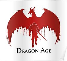 Dragon Age 2 Dragon and Hawke Poster