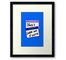 "Fight Club: ""I AM JACK'S COMPLETE LACK OF SURPRISE"" Framed Print"