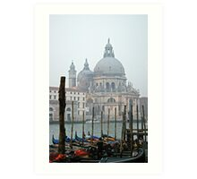 Lunch break for the Gondolas in Venice Art Print