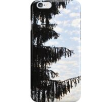 Fir tree against Sky iPhone Case/Skin
