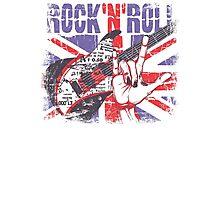 Rock n Roll Union Jack Photographic Print
