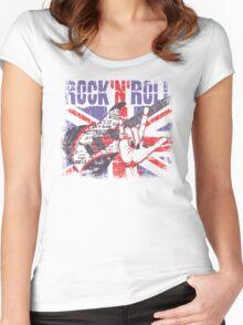 Rock n Roll Union Jack Women's Fitted Scoop T-Shirt