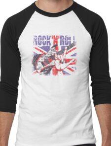 Rock n Roll Union Jack Men's Baseball ¾ T-Shirt