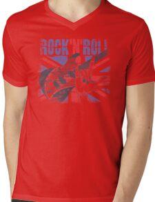Rock n Roll Union Jack Mens V-Neck T-Shirt