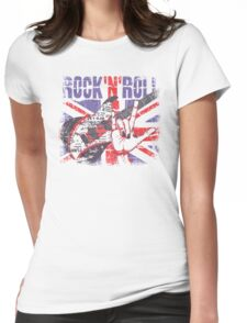 Rock n Roll Union Jack Womens Fitted T-Shirt